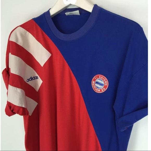 various colors 8c7d3 089aa NWT Vintage 80s adidas FC Bayern Munich T-shirt NWT